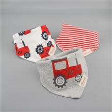 Load image into Gallery viewer, 3pc/lot 100% cotton baby boys and girls bibs baby towel bandanas scarf children cravat infant towel - shopbabyitems