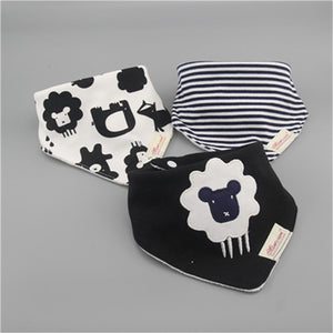 3pc/lot 100% cotton baby boys and girls bibs baby towel bandanas scarf children cravat infant towel - shopbabyitems