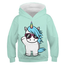 Load image into Gallery viewer, 4-14 Years kids unicorn cartoon hoodie Boy girl anime funny sweatshirt autumn tops hoodies child casual clothes coats polyester - shopbabyitems