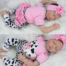 Load image into Gallery viewer, 22 inch Reborn Baby Doll Vinyl Silicone Lifelike Toy Girl for Children Accompany - shopbabyitems