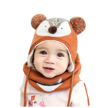 Load image into Gallery viewer, Autumn Winter Children Plus Velvet Hat Scarf Set - shopbabyitems