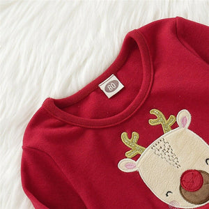Toddler Kid Baby Girl Xmas Elk DeerClothes Long Sleeve - shopbabyitems