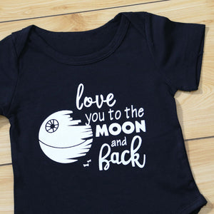 Love You To The Moon And Back Summer Baby Boy Girl Romper Newborn Infant Clothes - shopbabyitems