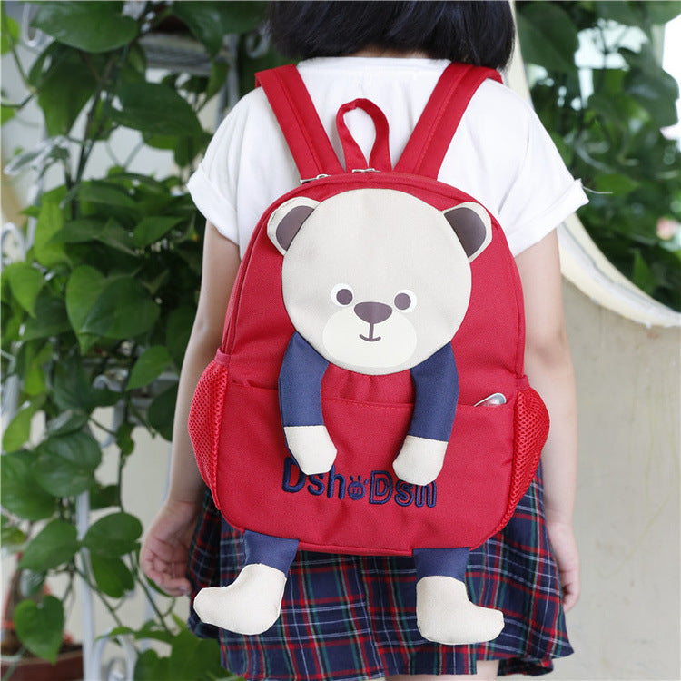 Preschool children's schoolbag kindergarten baby bag cartoon cute bear shoulder bag - shopbabyitems
