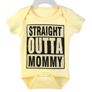 Funny Letters Design Infant Baby Round Neck Short Sleeve Summer Romper Jumpsuit - shopbabyitems