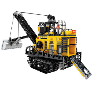 484PCS City Engineering Mining Machinery Forklift Building Blocks Legoing Technic Excavator Truck Car Bricks Toys for Children - shopbabyitems