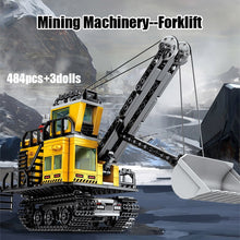 Load image into Gallery viewer, 484PCS City Engineering Mining Machinery Forklift Building Blocks Legoing Technic Excavator Truck Car Bricks Toys for Children - shopbabyitems