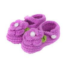 Load image into Gallery viewer, Lovely Newborn Baby Infant Flower Crochet Knitted Soft Prewalker Crib Shoes - shopbabyitems
