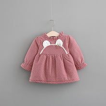 Load image into Gallery viewer, 2020 autumn and winter plus cashmere skirt, girls thickening dress, female baby long sleeve princess skirt, baby winter skirt - shopbabyitems