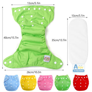 5 pieces /lot Adjustable Reusable Baby Boys Girls Cloth Diapers diaper - shopbabyitems
