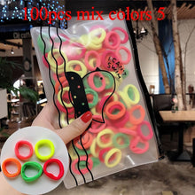 Load image into Gallery viewer, 50/100pcs/Set Girls Colorful Nylon Small Elastic Hair Bands Children Ponytail Holder Rubber Bands - shopbabyitems