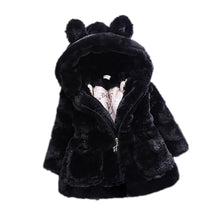 Load image into Gallery viewer, Kids Girls Rabbit Ears Thicken Outerwear Jacket Winter Long Sleeve Warm Coat - shopbabyitems