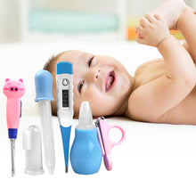 Load image into Gallery viewer, 7Pcs/Set Baby Grooming Healthcare Kits Thermometer Nail Clipper Ear Pick Bibs - shopbabyitems
