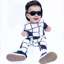 Load image into Gallery viewer, Fashion Infant Baby Boys Girls Plaid Pattern Hooded Romper Sleeveless Jumpsuit - shopbabyitems