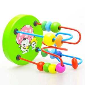 Baby Toddler Kids Educational Wooden Beads Around Intelligence Game Toy Gift - shopbabyitems