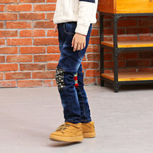 Load image into Gallery viewer, Fashion Star Pattern Kids Boys Pants Full Length Cotton Pocket Breathable Jeans - shopbabyitems