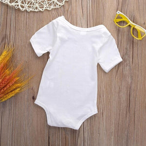 Cartoon Chick Print Baby Girl Fashion Short Sleeve Summer Cotton Romper Jumpsuit - shopbabyitems