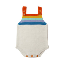 Load image into Gallery viewer, Rainbow Color Stripes Knitting Sleeveless Baby Boy Girl Romper Summer Jumpsuit - shopbabyitems