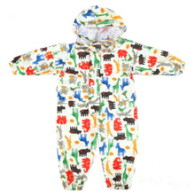 Load image into Gallery viewer, Cartoon Raincoat Kids Children Jumpsuit Rainwear Boy Girl Waterproof Poncho - shopbabyitems