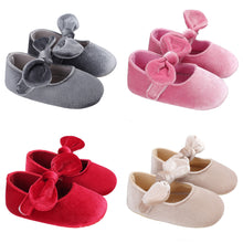 Load image into Gallery viewer, Cute Baby Girls Princess Bowknot Solid Color Soft Sole Shoes Prewalker Footwear - shopbabyitems