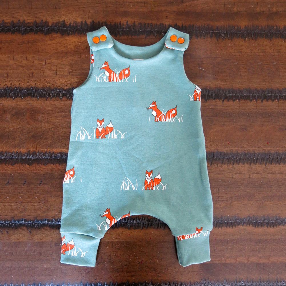 Unisex Cute Cartoon Fox Pattern Sleeveless Baby Summer Romper Jumpsuits - shopbabyitems