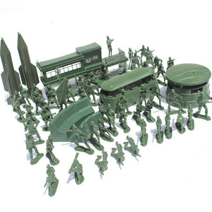 56Pcs 5cm Plastic  Model Army  military Toys Game Playset - shopbabyitems