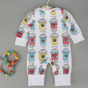 Newborn Infants Baby Boys Girls Ice Cream Warm Romper Jumpsuit Clothes Outfits - shopbabyitems