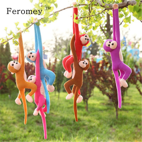 60cm Long Arm Tail Plush Monkey Doll Soft Monkey - shopbabyitems