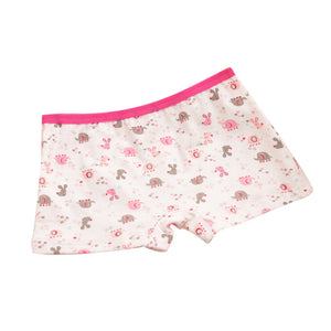 Lovely Cartoon Animals Elephant Printed Pure Cotton Girls Baby Kids Underpants - shopbabyitems