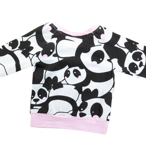 Fashion Baby Boy Girl Panda Pattern Outfits Top Long Pants Set Gift - shopbabyitems