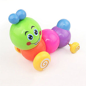 Lovely Colorful Caterpillar Wind-up Toys Kids Baby Developmental Educational Toy - shopbabyitems