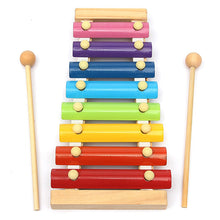 Load image into Gallery viewer, Kids Baby Toys 8 Notes Musical Xylophone Piano Multicolor Wooden Instrument Toy - shopbabyitems