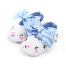 Load image into Gallery viewer, Cute Bowknot Baby Girls Infant Cotton Soft Anti-Slip Princess Floral Shoes Gift - shopbabyitems
