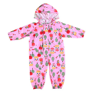 Cartoon Raincoat Kids Children Jumpsuit Rainwear Boy Girl Waterproof Poncho - shopbabyitems
