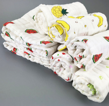 Load image into Gallery viewer, Wash Cloth Baby Diaper Reusable Muslin Gauze Clorful Printed Soft Nappy Liners - shopbabyitems