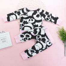 Load image into Gallery viewer, Fashion Baby Boy Girl Panda Pattern Outfits Top Long Pants Set Gift - shopbabyitems