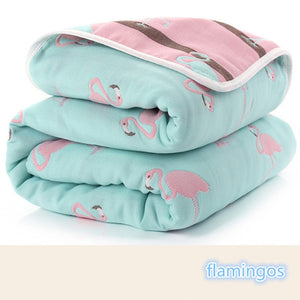 6 Layers Thick Swaddle Kids Receiving Blankets Children Cover Bedding - shopbabyitems
