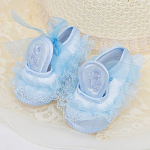Load image into Gallery viewer, Baby Toddler Girl Anti-skip Shoes with Lace Flowers Footwear Prewalker 0-18M - shopbabyitems