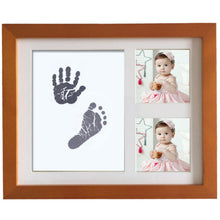 Load image into Gallery viewer, Newborn Baby Handprint Footprint Non-Toxic Ink Pad Wood Photo Frame Memento - shopbabyitems