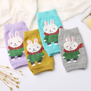 Baby Cute Cartoon Rabbit Safety Soft Crawling Knee Protector Leg Warmers Socks - shopbabyitems