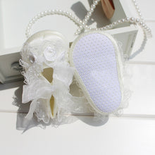 Load image into Gallery viewer, Cute Lace Flower Toddler Baby Girl Anti-Slip Crib Shoes Princess Prewalker Shoes - shopbabyitems