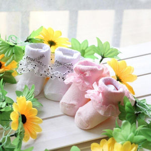 Kid Infant Baby Girl Cotton Socks Lace Flower Bow Princess Soft Summer Stockings - shopbabyitems