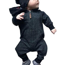 Load image into Gallery viewer, Baby Infants Boys Girls Casual Autumn Long Sleeve Cotton Hooded Romper Jumpsuit - shopbabyitems