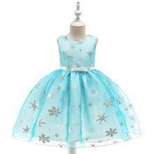 Load image into Gallery viewer, Baby Girl Silk Princess Dress for Wedding party Kids Dresses - shopbabyitems