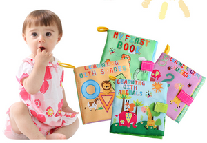 New Baby Toys Infant Kids Early Development Cloth Books - shopbabyitems