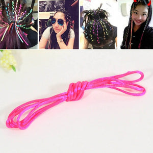 6pcs/lot  Rainbow Color Headband Cute Girls Hair band Crystal Long Elastic Hair Bands Headwear - shopbabyitems