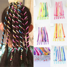 Load image into Gallery viewer, 6pcs/lot  Rainbow Color Headband Cute Girls Hair band Crystal Long Elastic Hair Bands Headwear - shopbabyitems