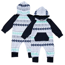 Load image into Gallery viewer, Cute Geometric Cotton Long Sleeve Romper Hoodie Baby Newborn Infant Clothing - shopbabyitems