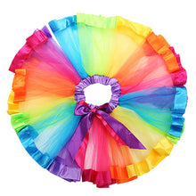 Load image into Gallery viewer, Princess Style Baby Girl Kids Rainbow Bowknot Tulle Tutu Skirt Pettiskirt Dress - shopbabyitems