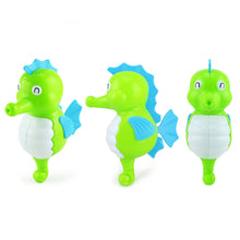Load image into Gallery viewer, Lovely Cartoon Animal Swimming Hippocampus Wind-up Clockwork Baby Bath Toys - shopbabyitems